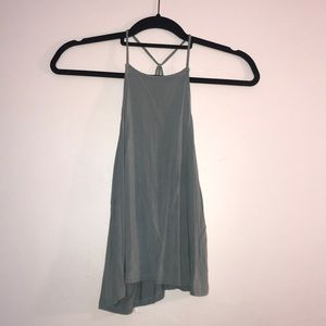 strappy greenish tank